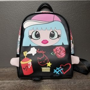 Betsey Johnson Graffiti Girl Backpack